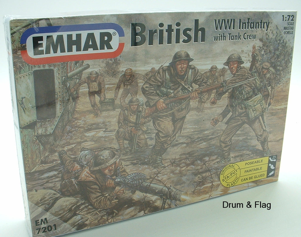 EMHAR 7201 WWI British WWI Infantry with Tank Crew. 1/72 scale.