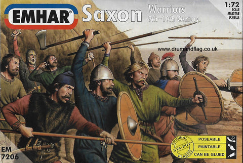 EMHAR 7206. SAXON WARRIORS. 9TH-10TH CENTURY 1:72 SCALE - SAXONS. DARK AGES
