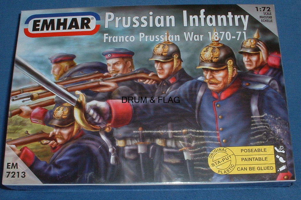EMHAR 7213 PRUSSIAN INFANTRY. FRANCO-PRUSSIAN WAR. 1:72 scale