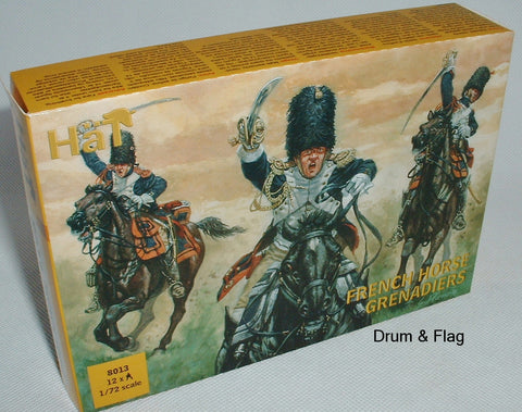 HAT 8013 - NAPOLEONIC FRENCH HORSE GRENADIERS - 1:72 SCALE - UNPAINTED PLASTIC
