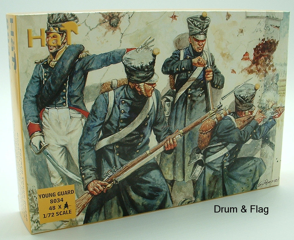 HAT 8034 NAPOLEONIC FRENCH YOUNG GUARD - 1:72 SCALE