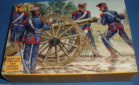 HaT 8039 Napoleonic French Horse Artillery 1/72 Scale