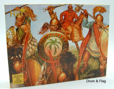 HAT 8056. CARTHAGINIAN COMMAND & CAVALRY. 1/72 SCALE. CARTHAGINIANS. PUNIC WARS