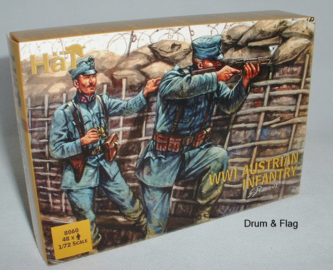 HAT 8060 - WW1 AUSTRIAN INFANTRY 1914 - 1/72 SCALE PLASTIC