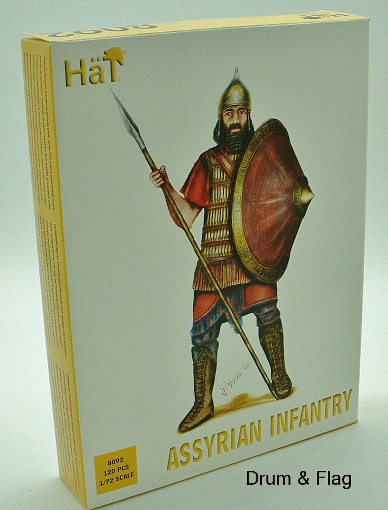 HAT 8092. ASSYRIAN INFANTRY. 120 X 1:72 SCALE PIECES. 44 figures
