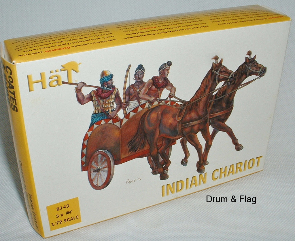 HAT 8143 - INDIAN CHARIOT X 3. 1:72 SCALE.
