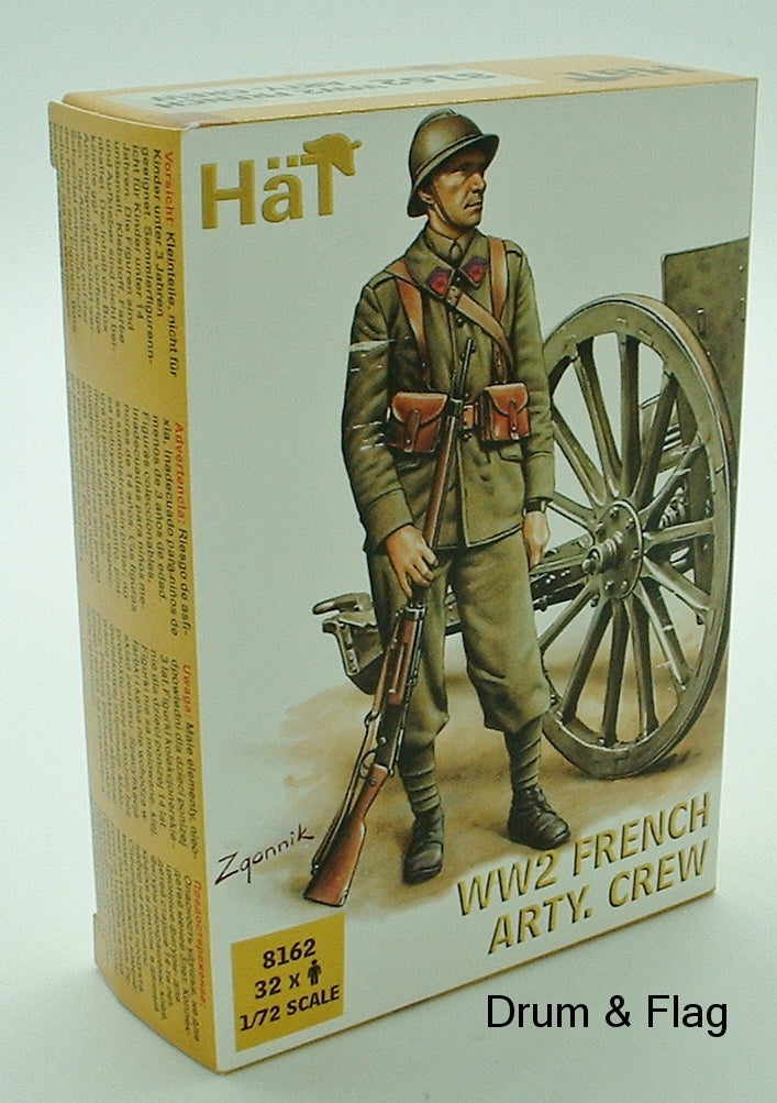 HaT 8162 WW2 French Artillery Crew 1/72 scale. 32 Figures
