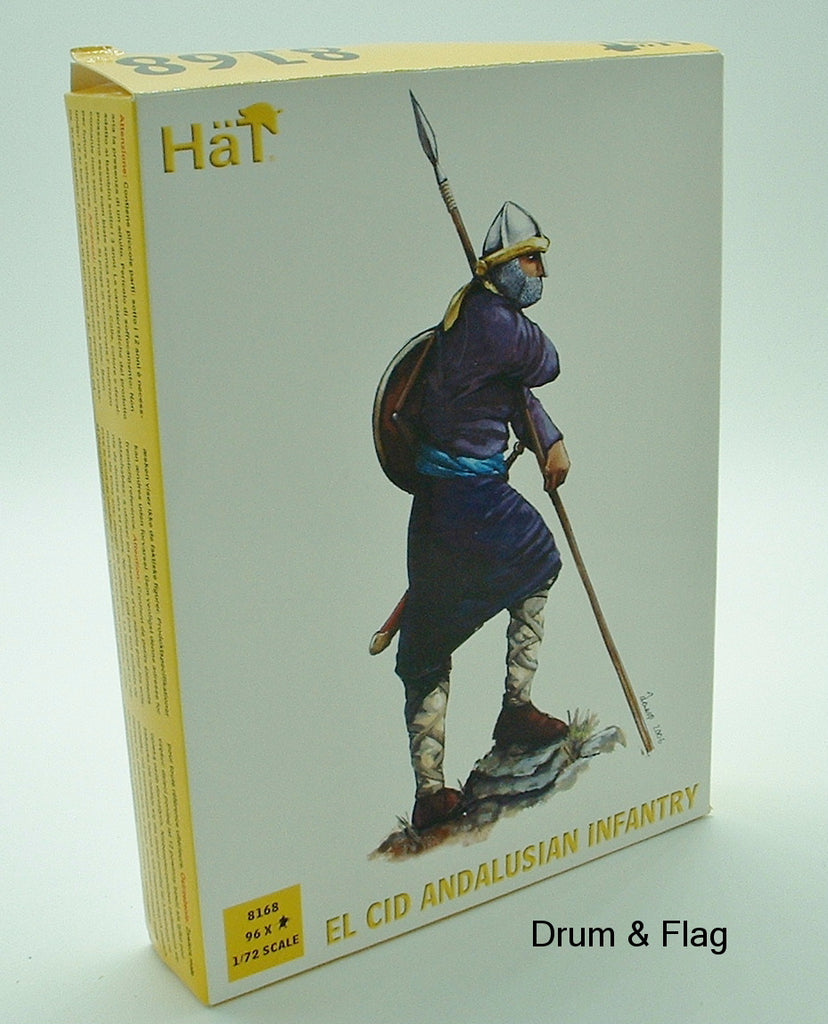 HAT 8168. EL CID ANDALUSIAN INFANTRY. 1/72 SCALE PLASTIC FIGURES.