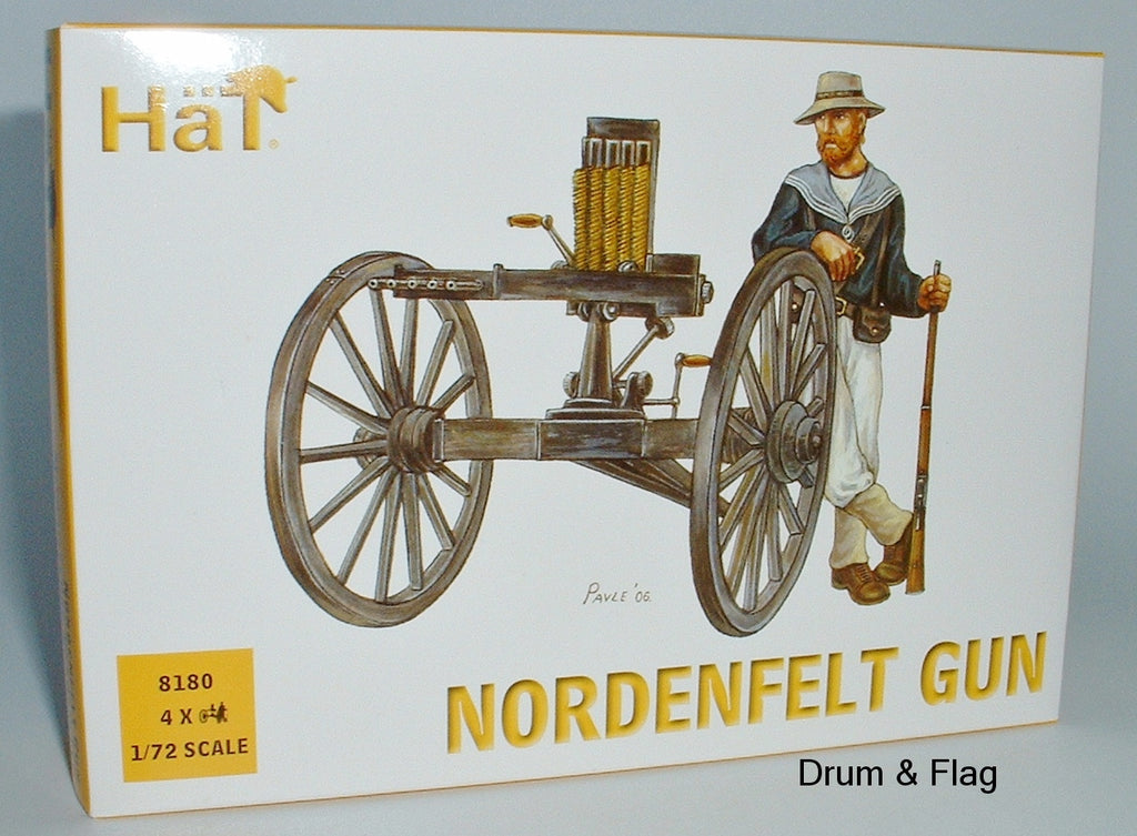 HAT 8180 - NORDENFELT GUN (PREVIOUSLY GARDNER GUN) - 1/72 SCALE