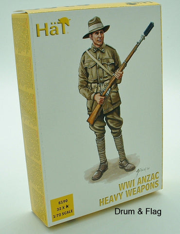 HAT 8190 WW1 ANZAC HEAVY WEAPONS 1/72 SCALE 32 FIGS AUSTRALIANS / NEW ZEALANDERS