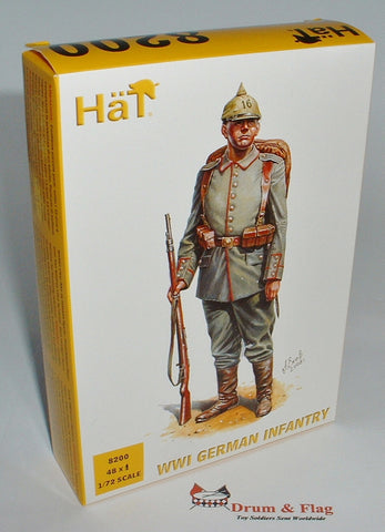 Damaged Box! HAT 8200 WW1 GERMAN INFANTRY. 1/72 SCALE 48 FIGURES