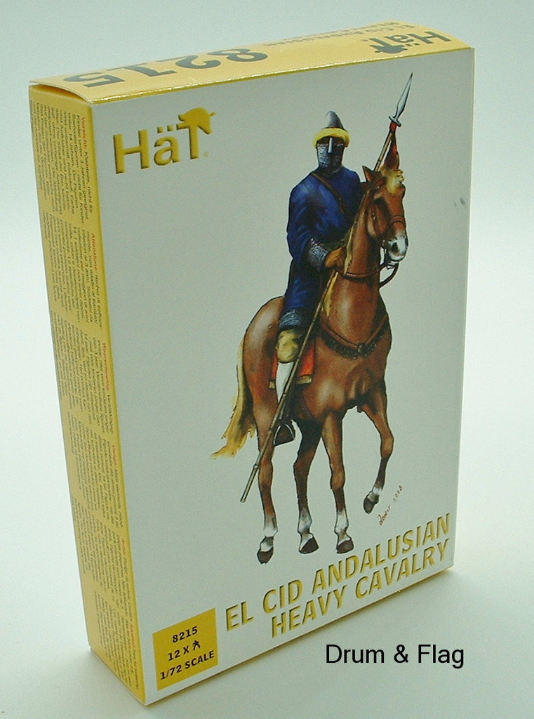HAT 8215 EL CID ANDALUSIAN HEAVY CAVALRY. 12 X 1/72 SCALE MOUNTED FIGURES.