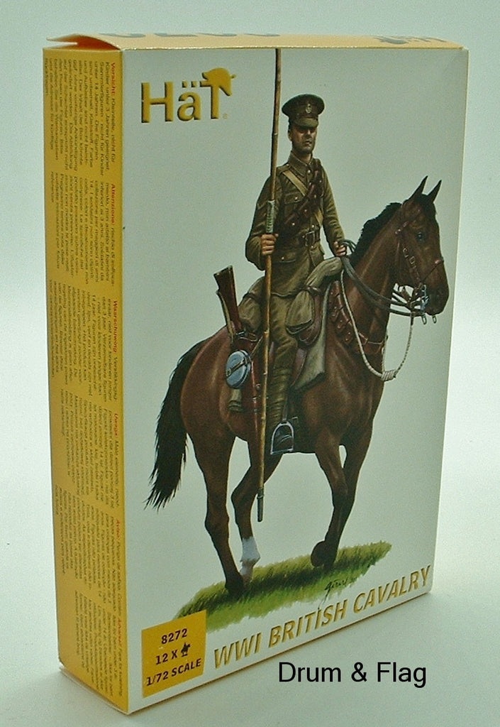 HAT 8272. WWI BRITISH CAVALRY.  1/72 SCALE. 12 FIGURES