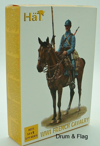 HAT 8273. WWI FRENCH CAVALRY.  1/72 SCALE. 12 FIGURES