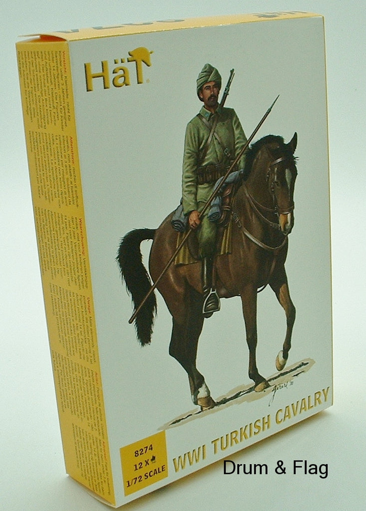 HAT 8274. WWI TURKISH CAVALRY.  1/72 SCALE. 12 FIGURES