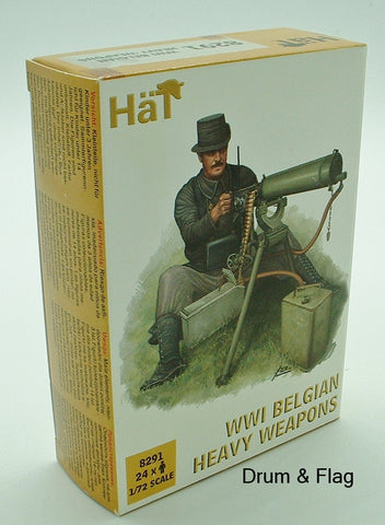 HaT 8291 WW1 Belgian Heavy Weapons 1/72 scale. 24 Figures