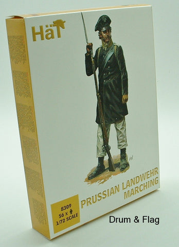 HaT 8309 Prussian Landwehr Marching Napoleonic Wars 1/72 scale Prussians x 56