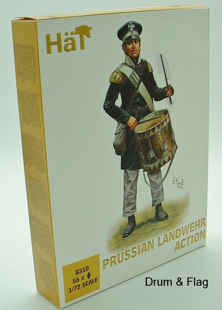 HaT 8310 Prussian Landwehr Action Napoleonic Wars 1/72 scale Prussians x 56