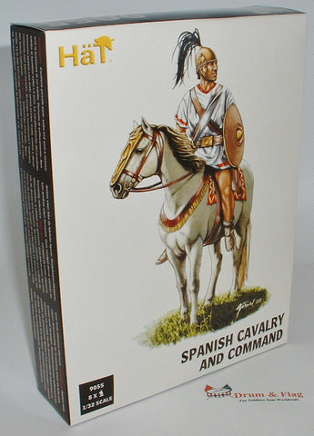HAT 9055 - SPANISH CAVALRY & COMMAND - 1/32 SCALE PLASTIC - PUNIC WARS.