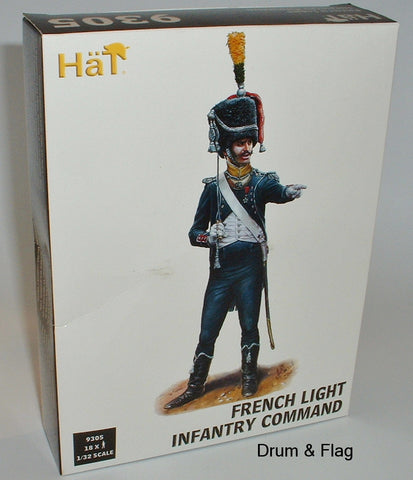HAT 9305 FRENCH LIGHT INFANTRY COMMAND 1/32 SCALE X 18 PLASTIC FIGURES