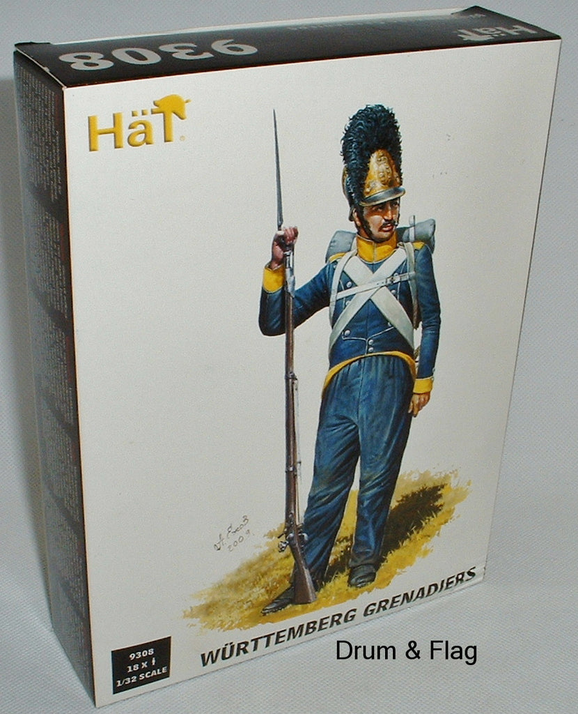 HAT 9308 WURTTEMBERG GRENADIERS - 1/32 SCALE X 18 FIGS