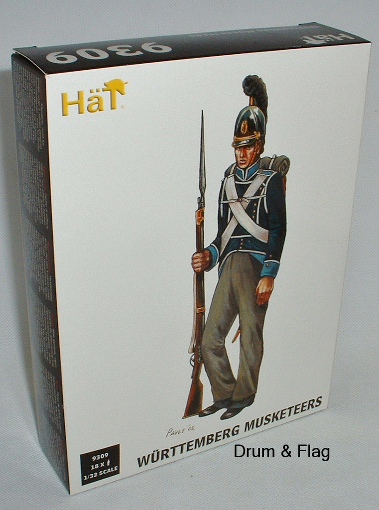 HAT 9309: NAPOLEONIC WURTTEMBERG MUSKETEERS 1:32 SCALE (54MM)