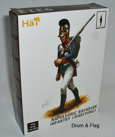 HAT 9313 BAVARIAN INFANTRY MARCHING 1/32 SCALE X 18 PLASTIC FIGURES BAVARIANS