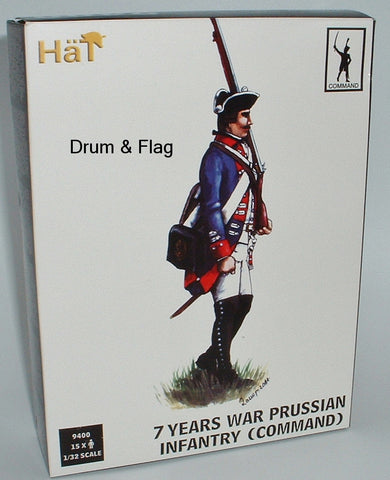 HAT 9400 PRUSSIAN INFANTRY COMMAND POSES 1/32 SCALE X 15 FIGS SEVEN 7 YEARS WAR