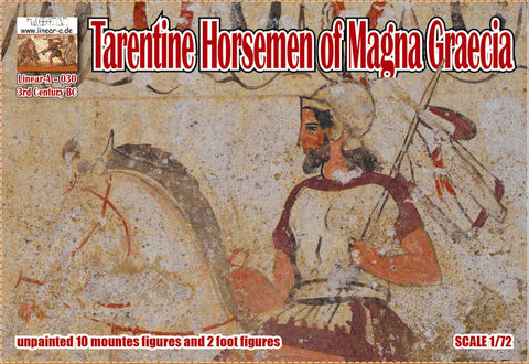 Linear-A 030 Tarentine Horsemen of Magna Graecia - Greek Cavalry. 1/72 scale. NOT YET AVAILABLE