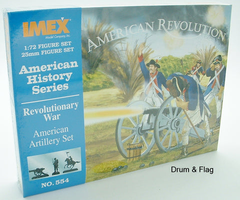 IMEX 554. AWI REVOLUTIONARY WAR AMERICAN ARTILLERY. 1/72 Scale. INDEPENDENCE OF
