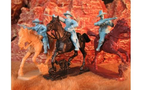 PARAGON - Mounted U.S. Cavalry Set #3. c60mm Unpainted Plastic. PS005LB