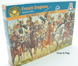 ITALERI 6015 - NAPOLEONIC FRENCH DRAGOONS. 1:72 SCALE. DRAGOON CAVALRY
