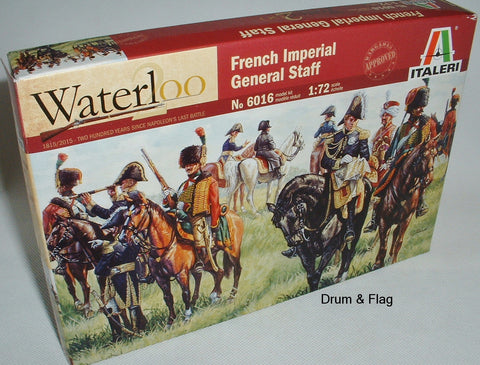 ITALERI 6016. FRENCH IMPERIAL GENERAL STAFF - NAPOLEONIC ERA. 1:72 SCALE PLASTIC
