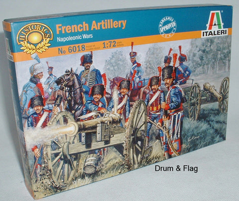 ITALERI 6018 NAPOLEONIC FRENCH LINE / GUARD ARTILLERY. 1:72 FIGURES.