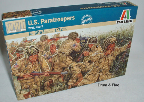 ITALERI 6063 US PARATROOPERS - WW2. 1:72 SCALE WWII AMERICAN PARATROOPS