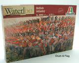 ITALERI 6095 - NAPOLEONIC BRITISH INFANTRY 1815.  1:72 SCALE WATERLOO BRITISH