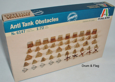 ITALERI 6147 WW2 ANTI-TANK OBSTACLES 1:72 SCALE. TANK TRAPS / BARRICADES.