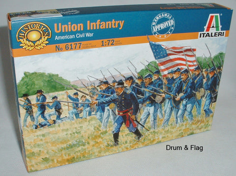 ITALERI 6177. UNION INFANTRY. AMERICAN CIVIL WAR. 1:72 SCALE (Esci poses)