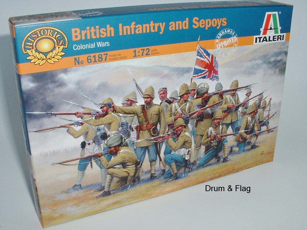 Italeri 6187. British Infantry & Sepoys. 1:72 Scale (Esci poses)