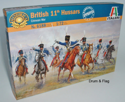 Italeri 6188. British 11th Hussars Crimean War. 1:72 Scale (Esci poses)