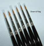 JAVIS HIGH QUALITY SABLE PAINT BRUSHES 6 x Size 1. SIX SIZE ONE BRUSH SET