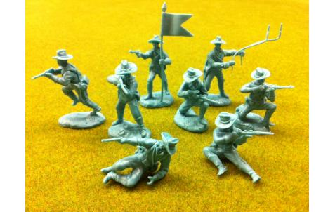 PARAGON - Dismounted U.S. Cavalry Set #3. c60mm Unpainted Plastic. PS010LB