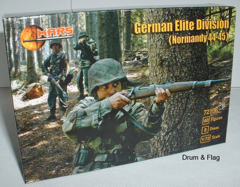 Mars 72106 German Elite Division Waffen SS Normandy 1944-45 WWII. 1/72 scale