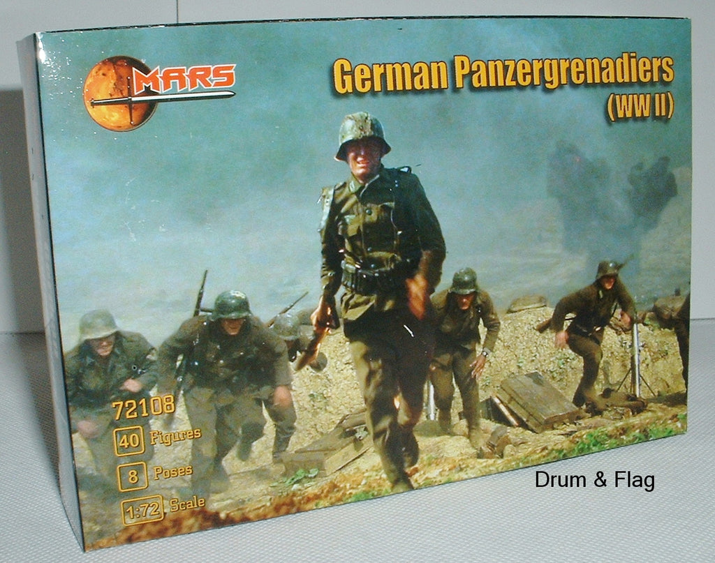 Mars 72108 German Panzergrenadiers WWII. 1/72 scale