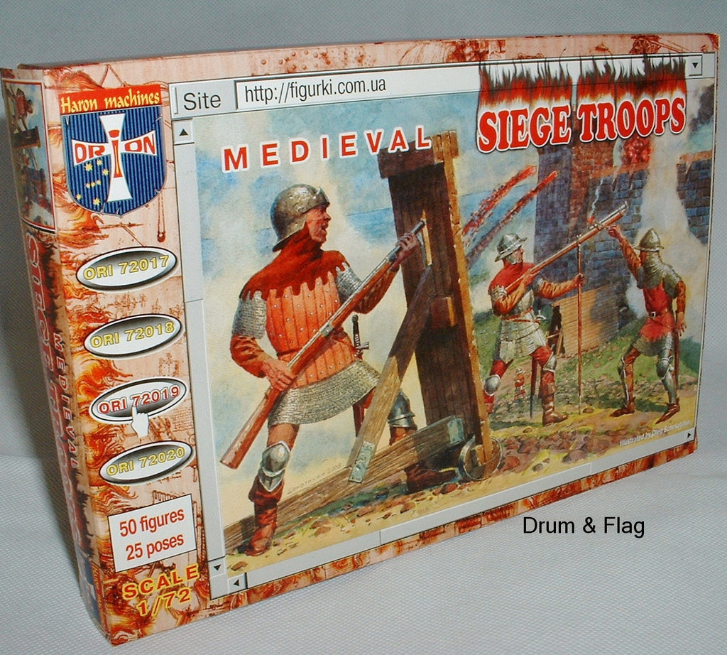 ORION 72019 MEDIEVAL SIEGE TROOPS. 1/72 SCALE FIGURES
