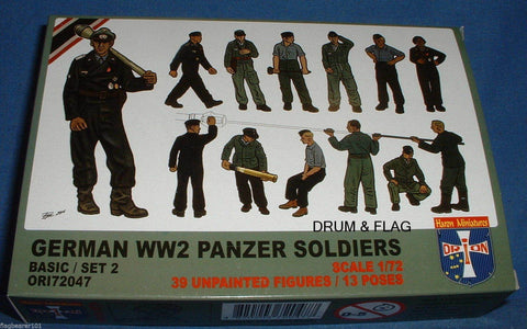 ORION 72047 WW2 GERMAN PANZER SOLDIERS set #2. 1/72 SCALE