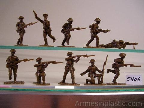 ARMIES IN PLASTIC #5406 - WW1 - BRITISH ARMY IN STEEL HELMETS - 1/32 SCALE.