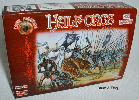 DARK ALLIANCE #72016. HALF-ORCS SET 2 INFANTRY HALF ORCS. 1/72 SCALE FIGS x 44