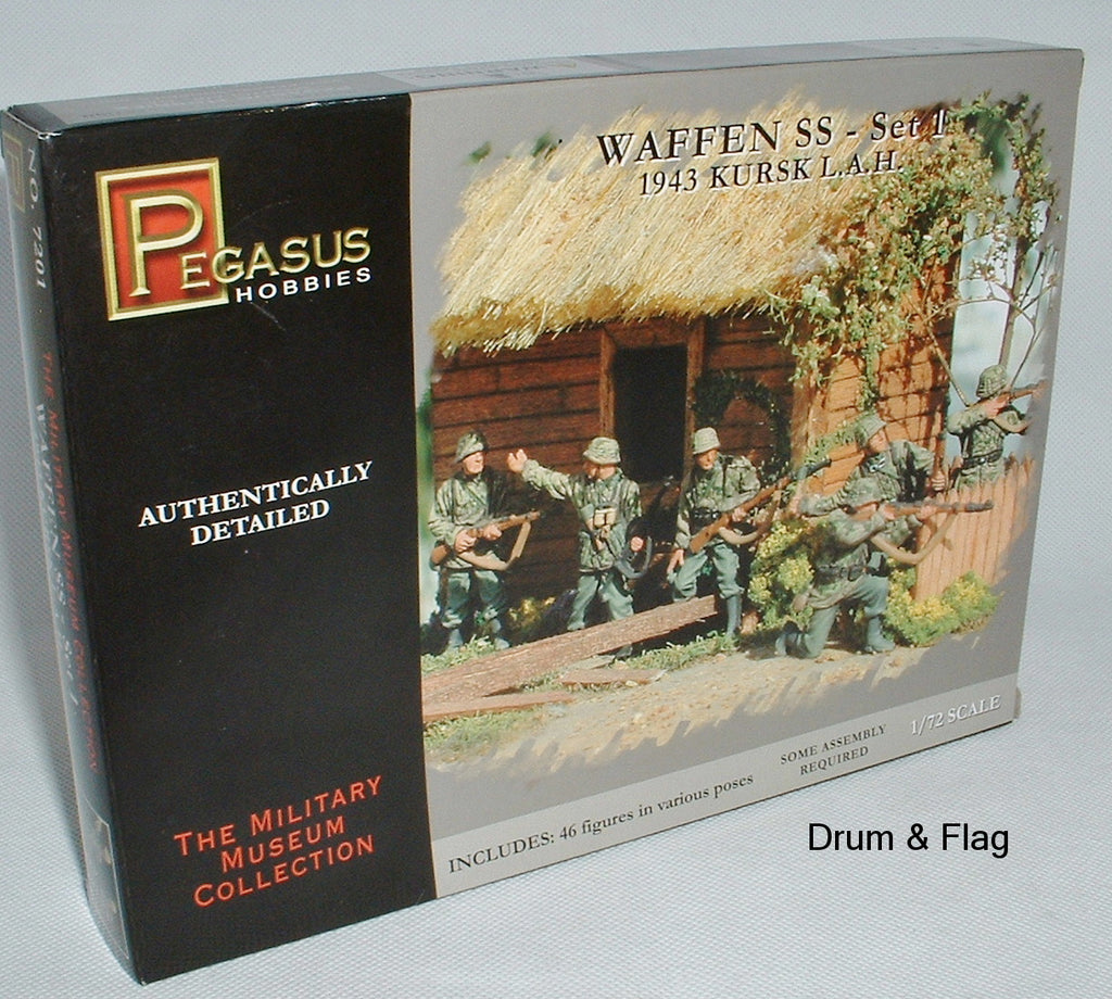 PEGASUS 7201. WAFFEN SS Set 1 - 1943 Kursk L.A.H. 1/72 SCALE GERMAN INFANTRY WW2