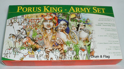 LUCKY TOYS - KING PORUS INDIAN ARMY - 1/72 SCALE UNPAINTED PLASTIC